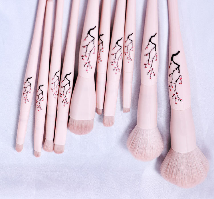 Bamboo Handle Face Makeup Brush 11 Pieces Special Color And Premium Material