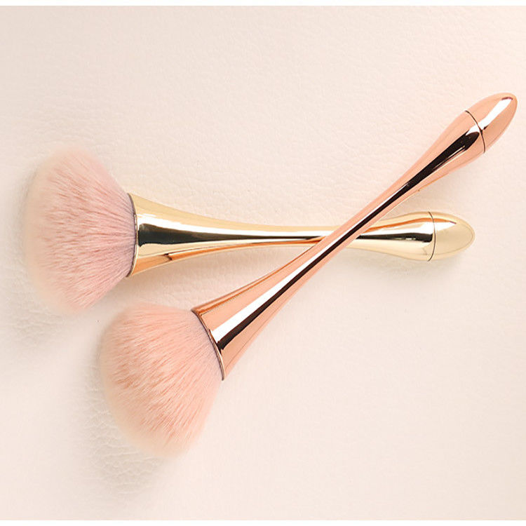 Rose Flat Face Makeup Brush Custom Logo Accepted Easy For Cleaning AW-G01-03