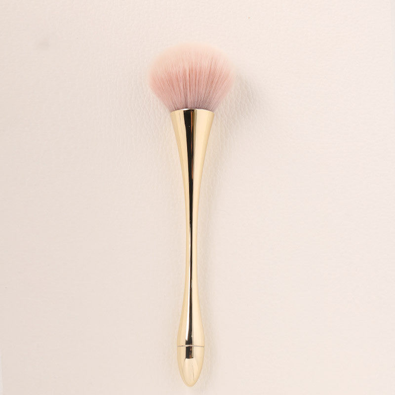OEM Round Shape Face Foundation Brush , Compact Powder Brush Pure Hair