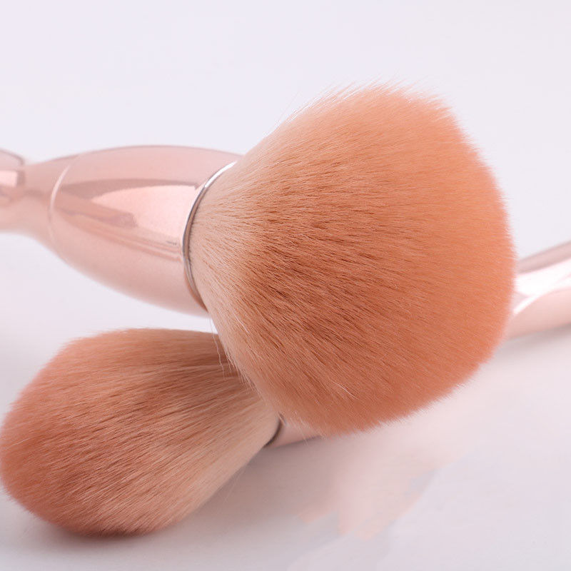Durable Bristles Synthetic Makeup Brush PU New Material / ABS Plastic Handle Material