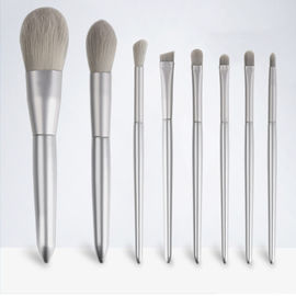 China Cosmetics Tool Vegan Makeup Brushes OEM Logo Gray Straight Design 0.2kg factory